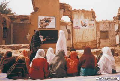 A RAWA literacy class for women in Takhar province