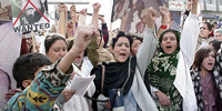 Taliban attack RAWA's peaceful protest rally in Islamabad, Dec.10, 2000