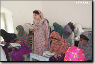 RAWA literacy course in Peshawar